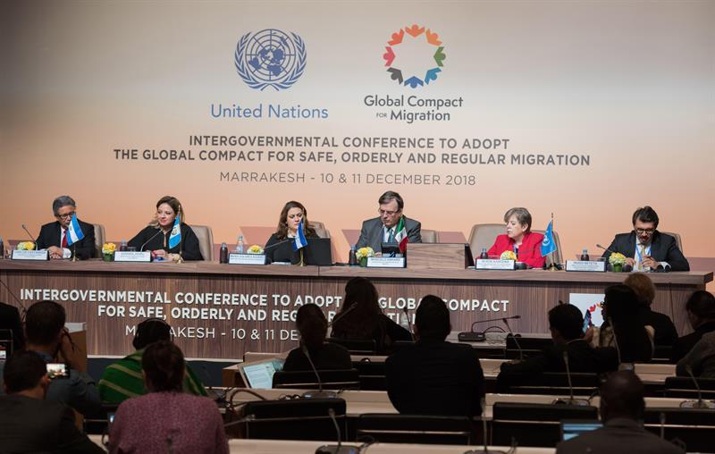 Image result for Asamblea de la ONU aprueba Pacto Migratorio