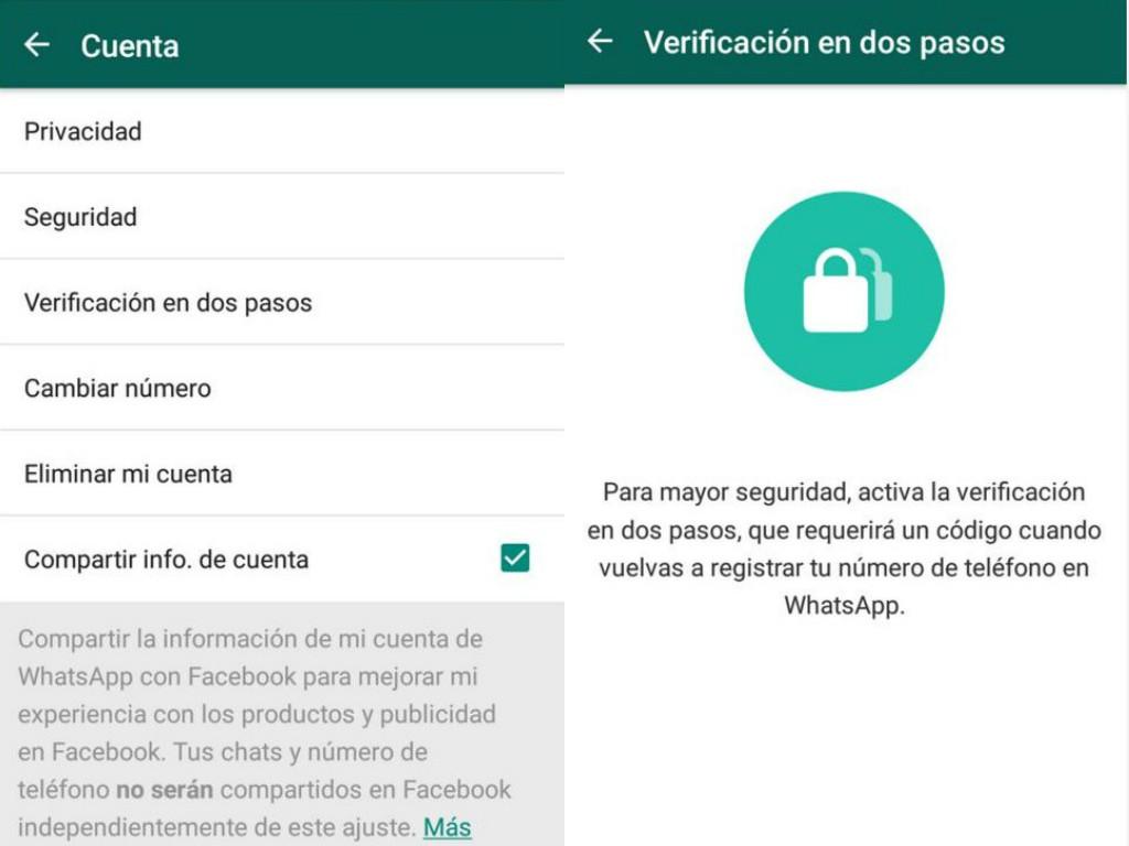Cómo activar en dos pasos la verificación de Whatsapp - Z Digital
