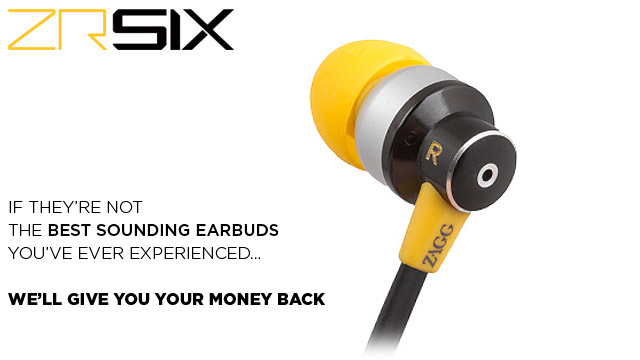 ZR-SIX Earbud Headphones