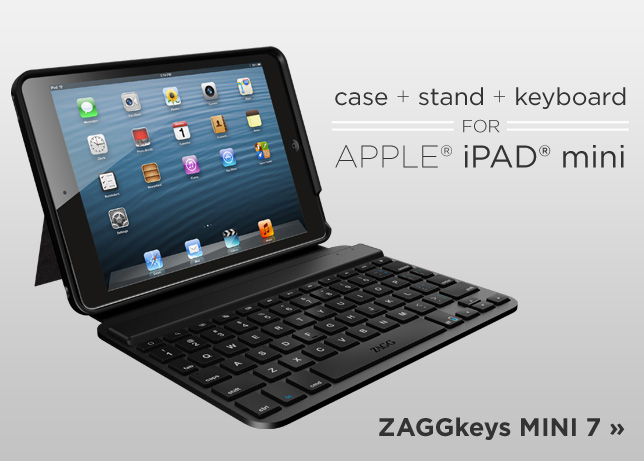 ZAGGkeys MINI 7 keyboard and stand for iPad mini