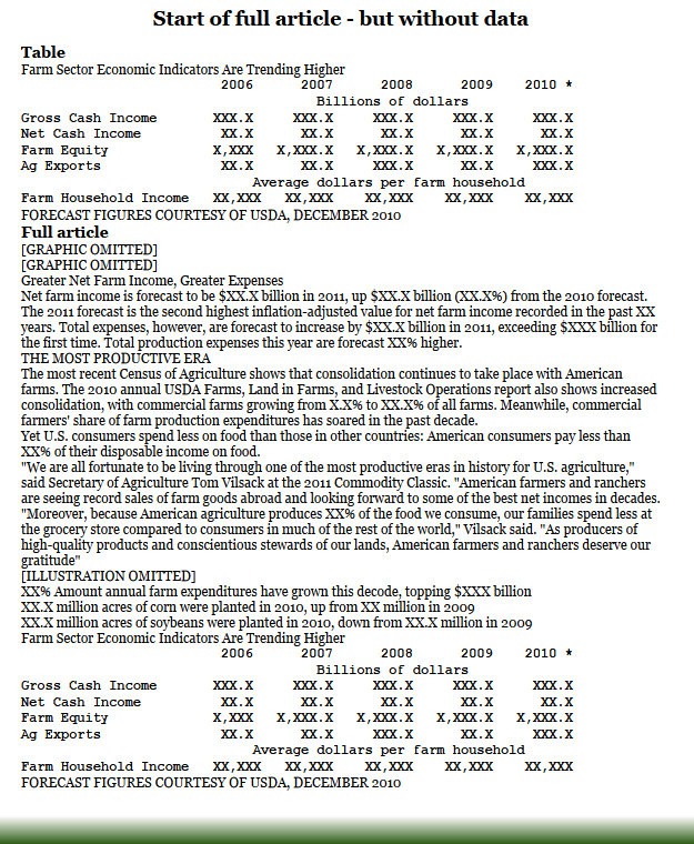 US farm income 2006-2010