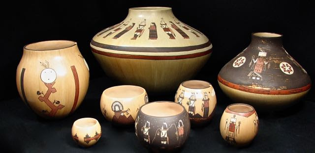 What's that Navajo girl doing making Hopi pots?
