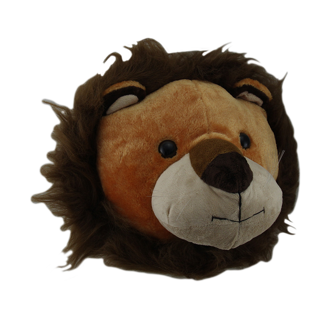 wild walls stuffed animal head plush wall sculpture ebay. Black Bedroom Furniture Sets. Home Design Ideas