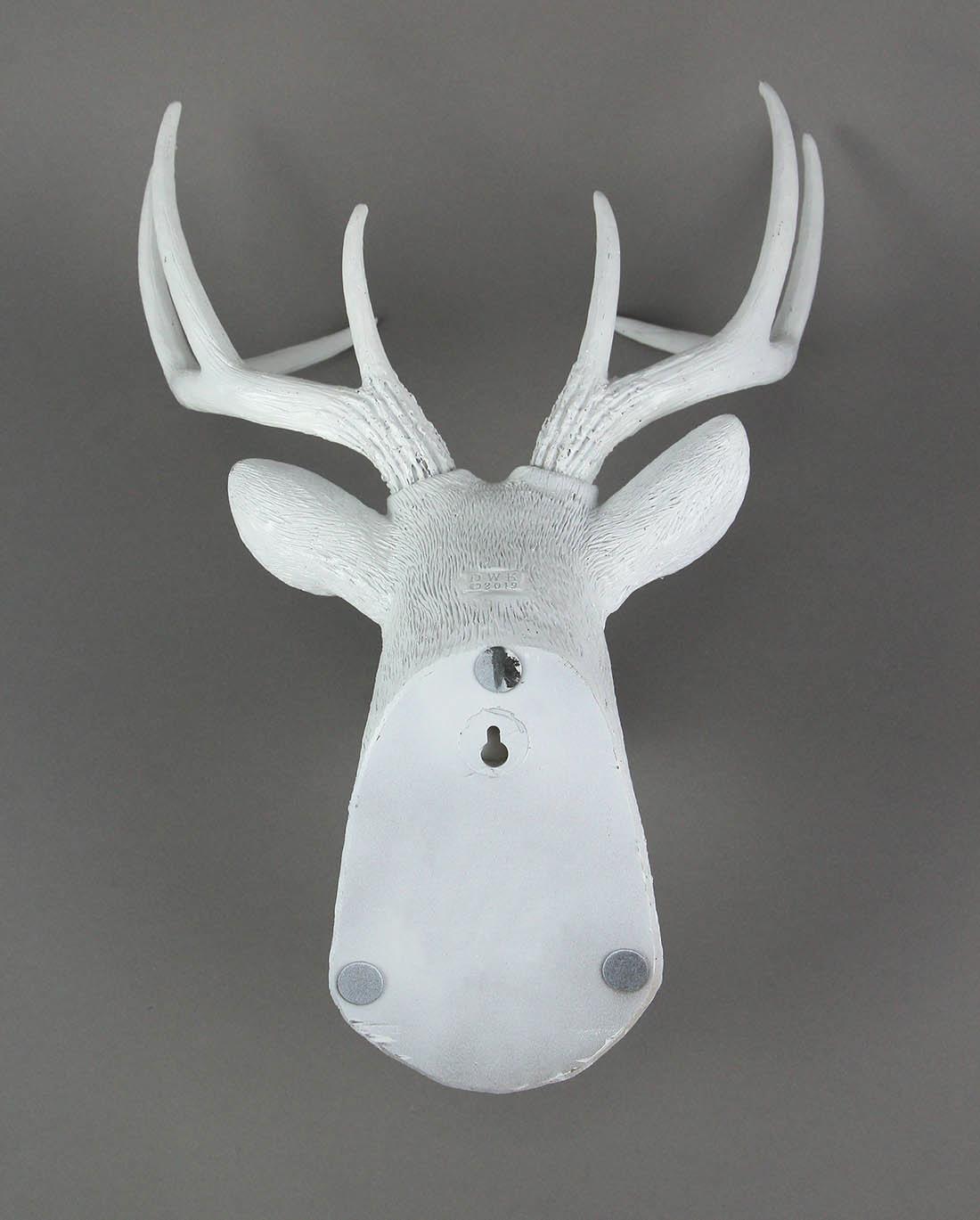 Deer Head Buck Horns Wall Mounted Antler Trophy Faux Taxidermy Sculpture