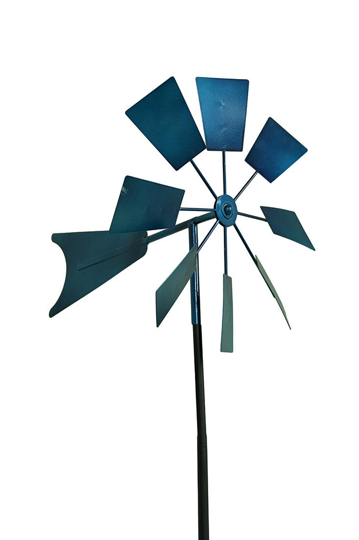52 In Metal Windmill Garden Stake Wind Spinner Ebay