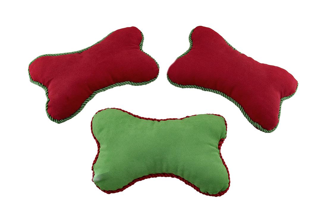 Set of 3 Funny Dog Bone Embroidered Mini Throw Pillows 10 x 6 eBay