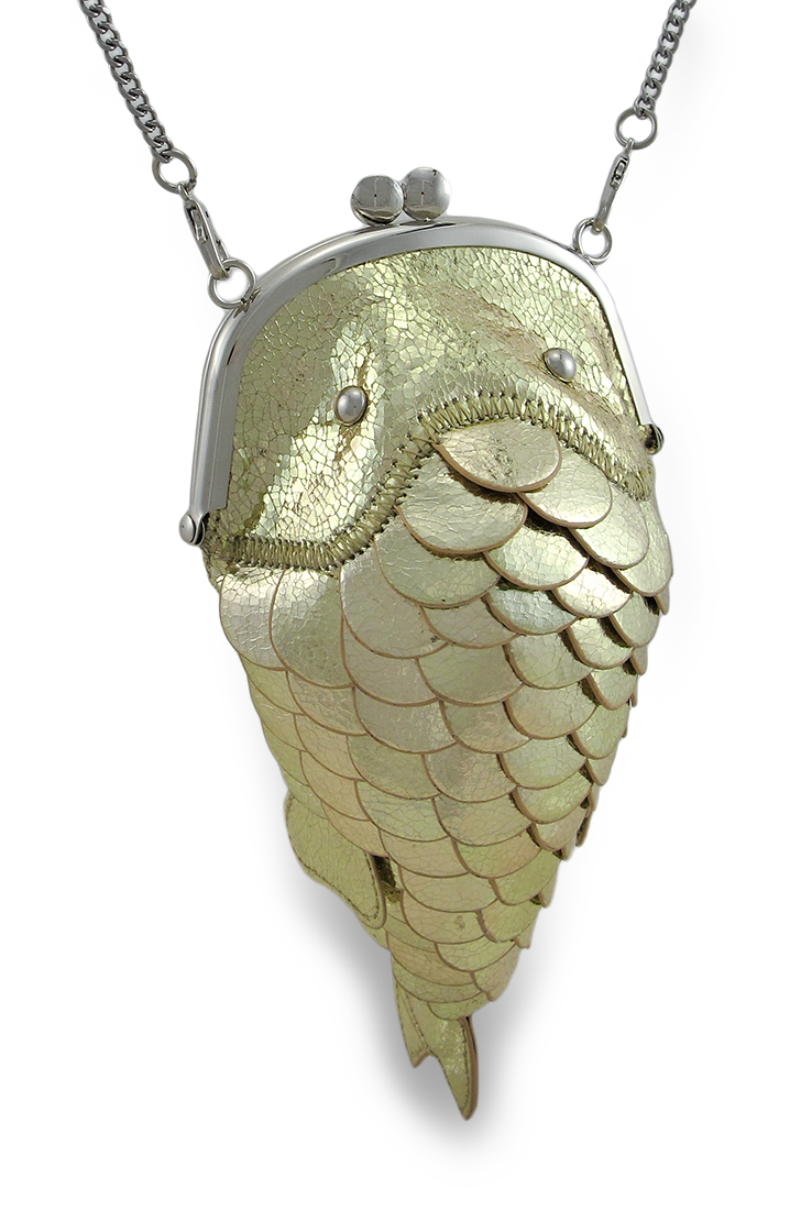 Lucky koi fish kiss lock bag for Koi fish purse