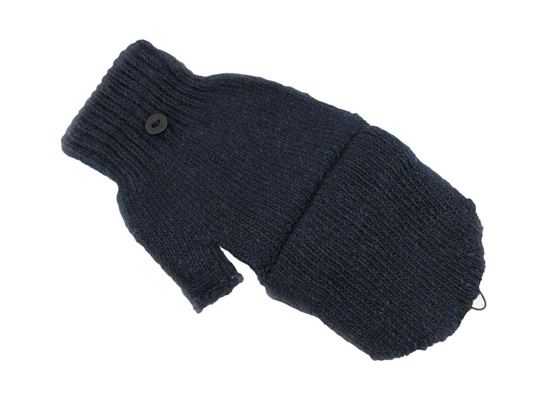 Knitting Pattern Fingerless Gloves Mitten Flap : Knit Convertible Texting Mittens Gloves Smoker eBay