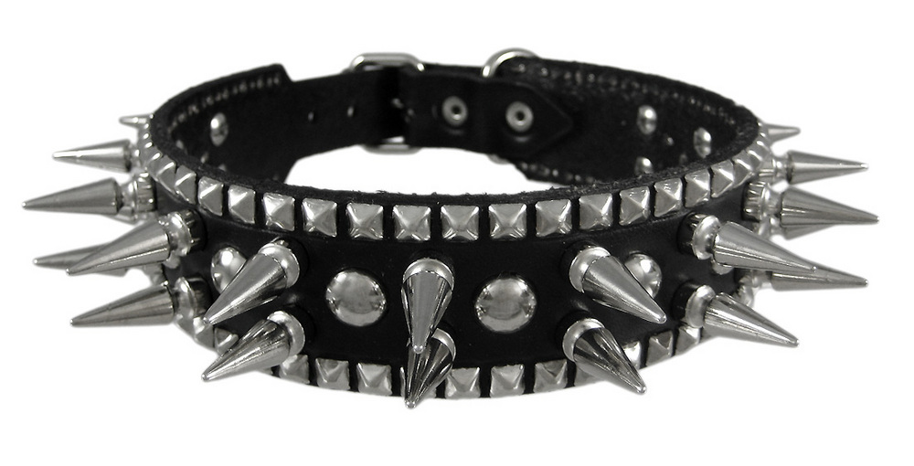 Black Dog Collar Spiked