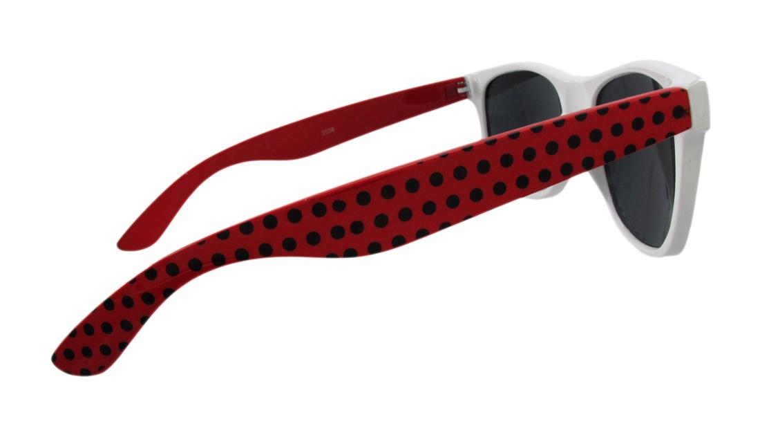 Zeckos Polka Dot Retro 80`s Style Sunglasses
