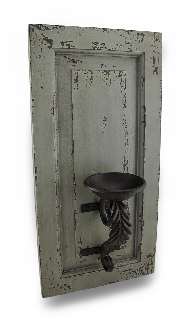 Distressed Metal Wall Sconces : Distressed Finish Wood and Metal Wall Sconce Candle Holder eBay