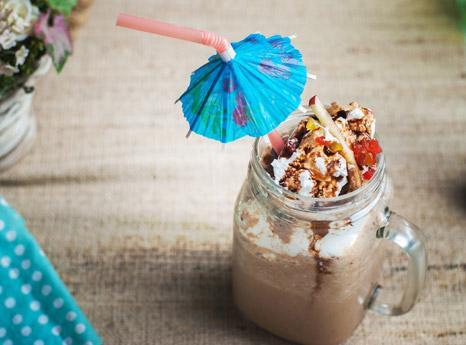 Apple Chocolate Milkshake