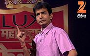 Bhau Kadam, Nilesh Sable, Sagar Karande performing comedy skit