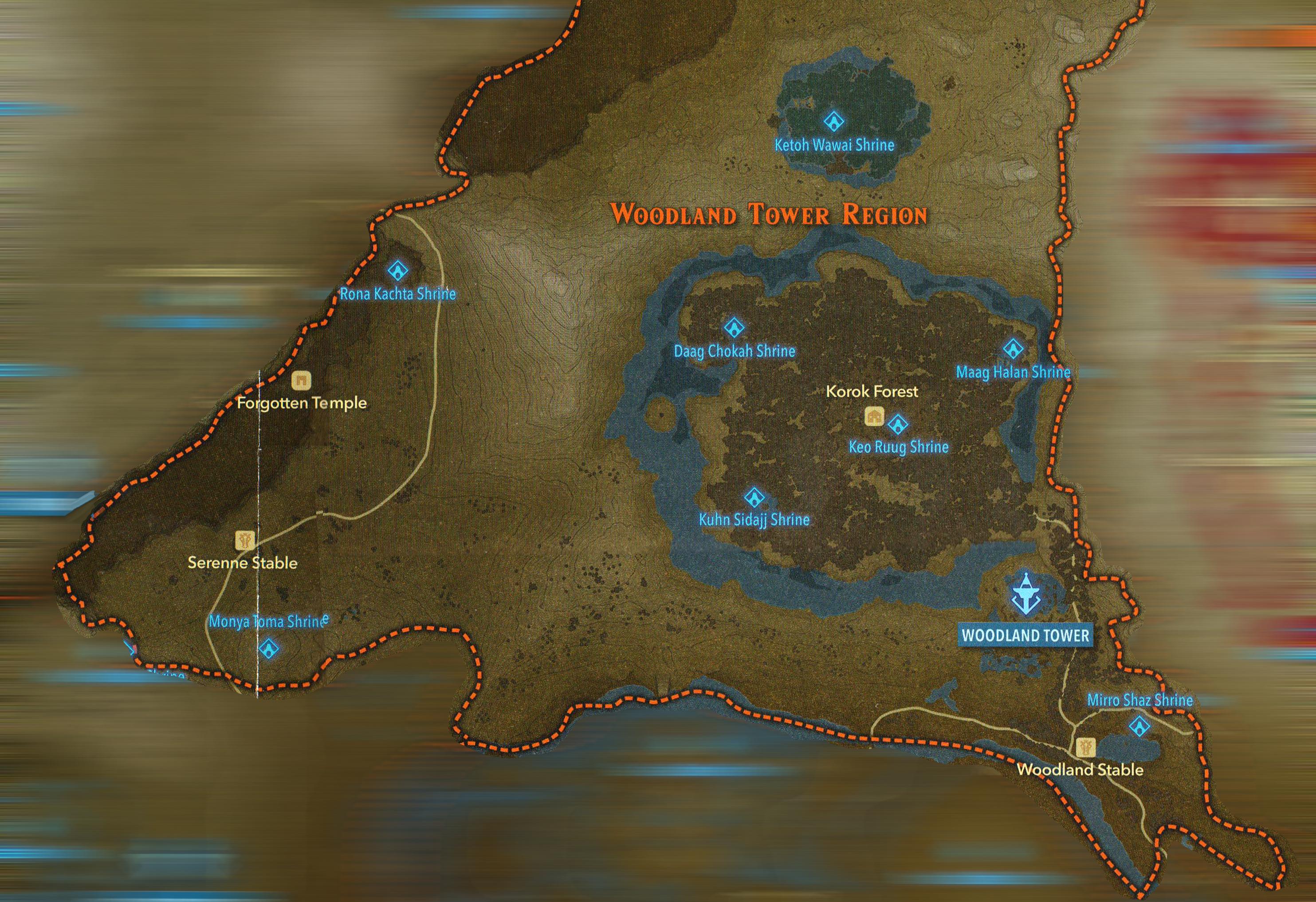 Woodlands Map