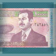 10 Thousand Iraq Dinar featuring Saddam Hussein