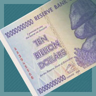 Zimbabwe 10 Billion Dollar Banknote