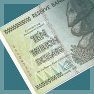 Zimbabwe 10 Trillion Dollar Banknote
