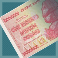 Zimbabwe 100 Million Dollar Banknote