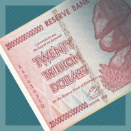 Zimbabwe 20 Trillion Dollar Banknote