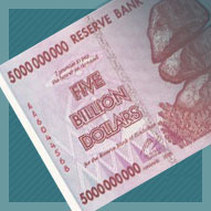 Zimbabwe 5 Billion Dollar Banknote
