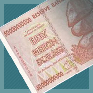 Zimbabwe 50 Billion Dollar Banknote