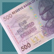 Zimbabwe 500 Dollar Banknote