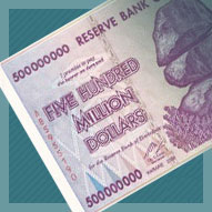 Zimbabwe 500 Million Dollar Banknote