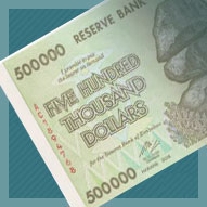 Zimbabwe 500 Thousand Dollar Banknote