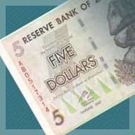Zimbabwe Five Dollar Banknote