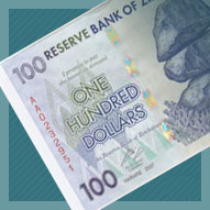 Zimbabwe 100 Dollar Banknote