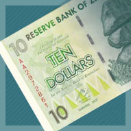 Zimbabwe Ten Dollar Banknote
