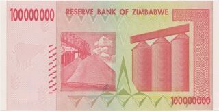100 Million Zimbabwe Dollars