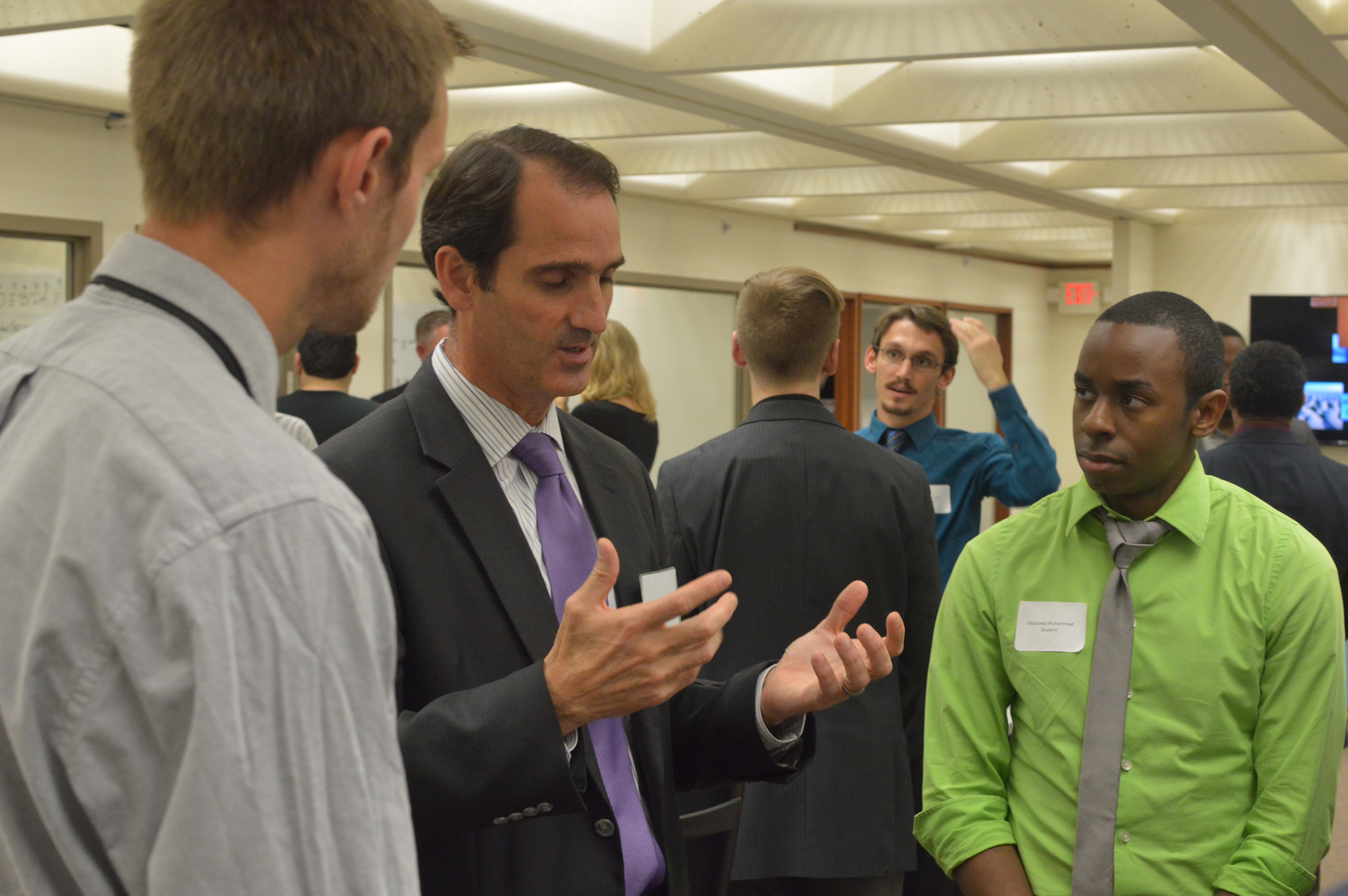 Students meeting with employers