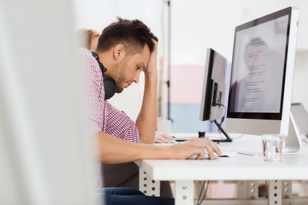 young man frustrated with job and needing a career change