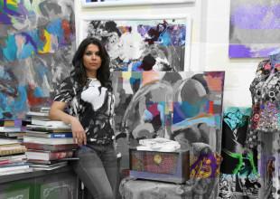 Rəssam Mehriban Şəmsəddinskaya. Çərçivədəki abstrakt fikir.