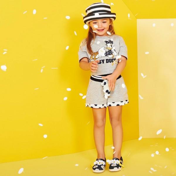 MONNALISA-Girls-Grey-T-Shirt-with-Daisy-Duck-Print-e1454402219543