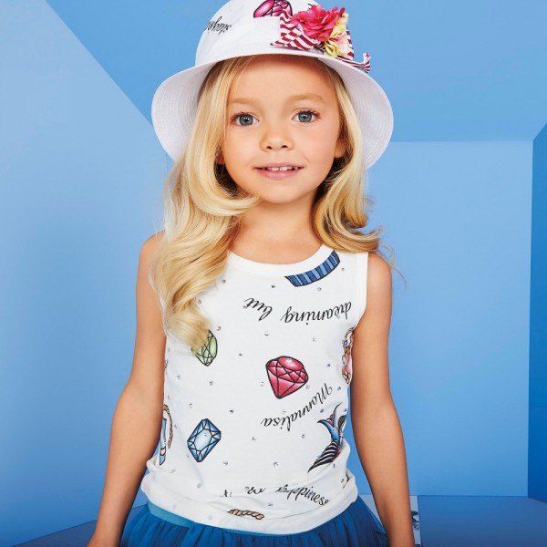 MONNALISA-Girls-Ivory-T-Shirt-with-Sailor-Jerry-Print-e1454401484242