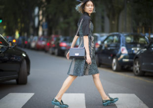 MILAN, ITALY - SEPTEMBER 24:  Irene Kim  is seen during the Milan Fashion Week Spring/Summer 2016 on September 24, 2015 in Milan, Italy.  (Photo by Timur Emek/Getty Images)