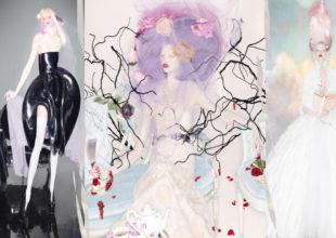 Model Karli Kross məşhur brendlərə aid libaslarda xəyal dünyasının obrazlarını canlandırdı