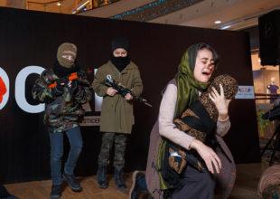 """Ötən gün """"Sevimli Bala"""" klubu Xocalı faciəsinə həsr olunmuş tamaşası ilə tarixi andı"""