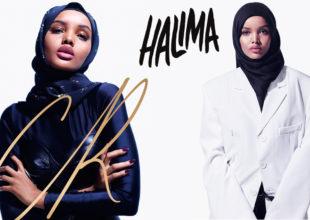 Hicabı ilə podiuma çıxaraq stereotipləri aşan model Halima Aden.