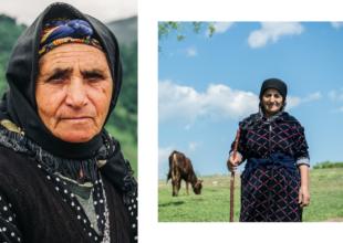 """Zəhmətkeş analar. Iradə Qədirovanın fotoları """"Qazaxda 3 gün"""" tədbirində sərgiləndi."""