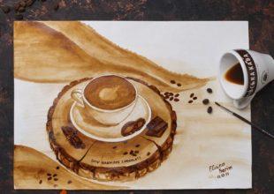 Coffee Art. Elvina Kərimin incəsənətə çevrilən qəhvə məhəbbəti.