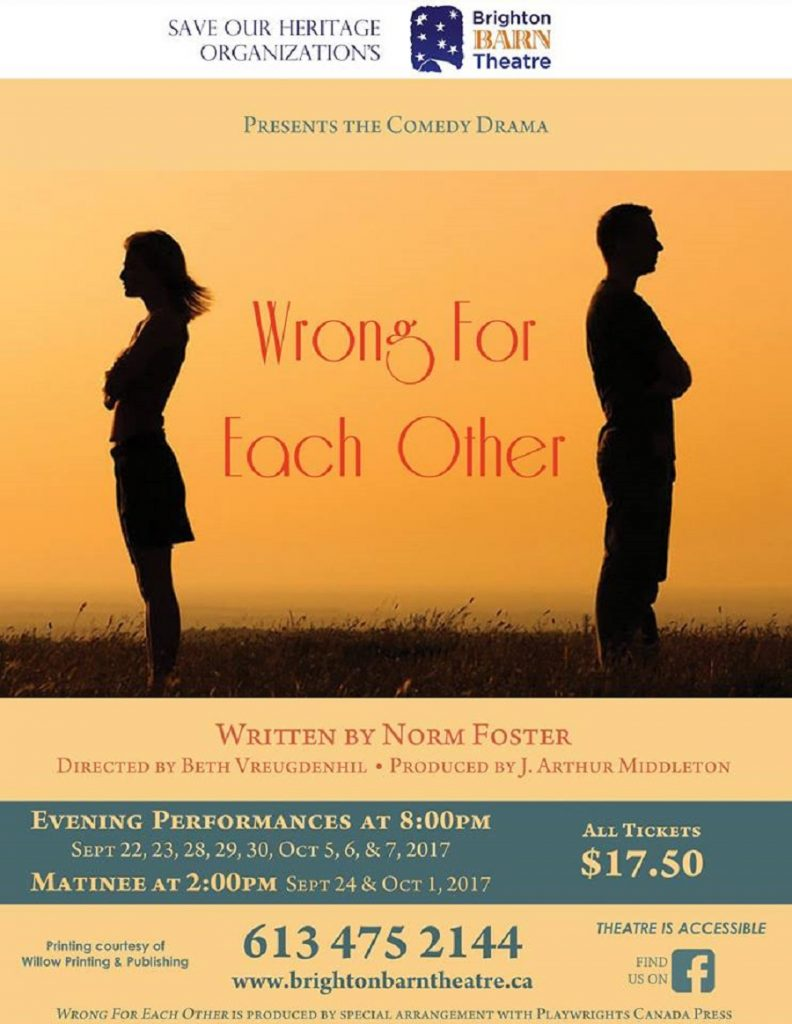 "Brighton Barn Theatre Presents ""Wrong For Each Other""…Ever Wonder What Happened To Your Lost Love? featured image"