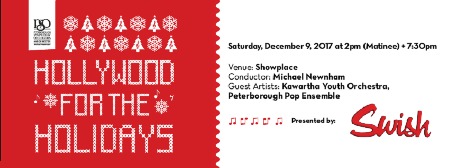 """Hollywood For The Holidays"" With Peterborough Symphony Orchestra"