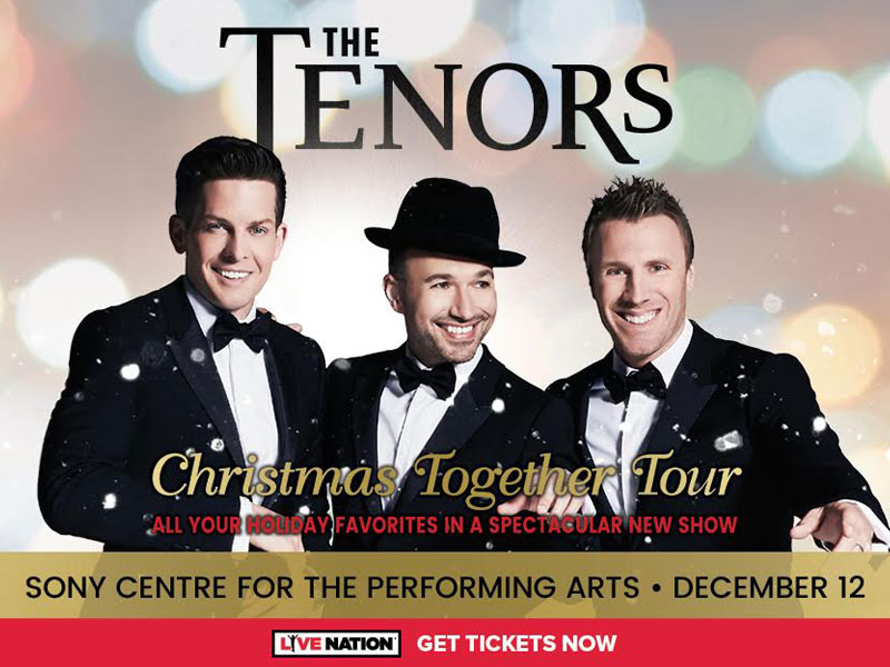 "Win Tickets to see The Tenors ""Christmas Together Tour"""
