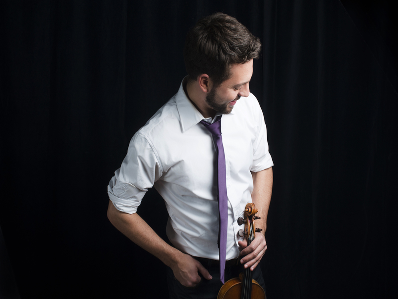 Working extra holiday hours: violinist Aaron Schwebel featured image