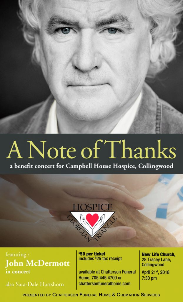 """A Note of Thanks"" Concert Featuring Canadian Tenor John McDermott featured image"