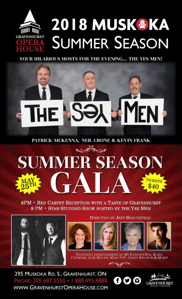 "Say ""Yes"" To The Gravenhurst Opera House Summer Season Gala! featured image"