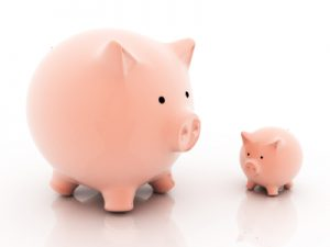 Large and Small Piggy Banks